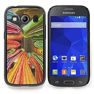 Stuss Case / Funda Carcasa protectora - Libros Verde Amarillo Colorido - Samsung Galaxy Ace Style LTE/ G357