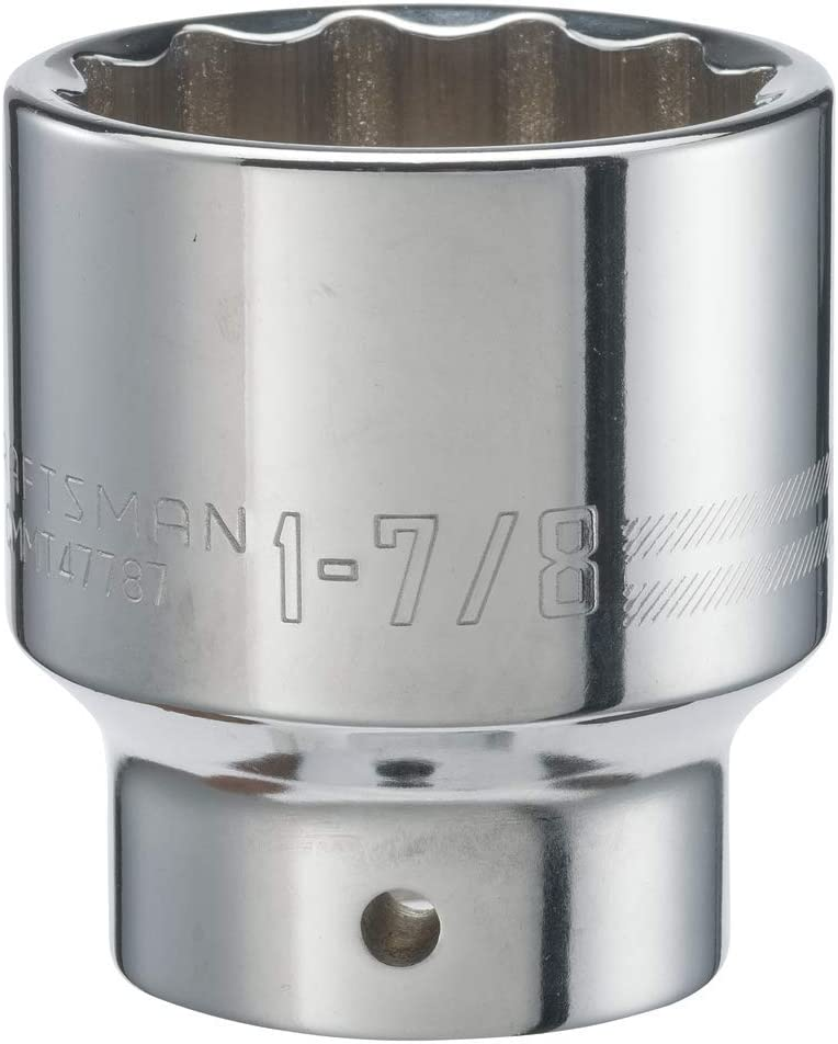 12-Point SAE CMMT19645 CRAFTSMAN Shallow Socket 3//4-Inch Drive 1-13//16-Inch
