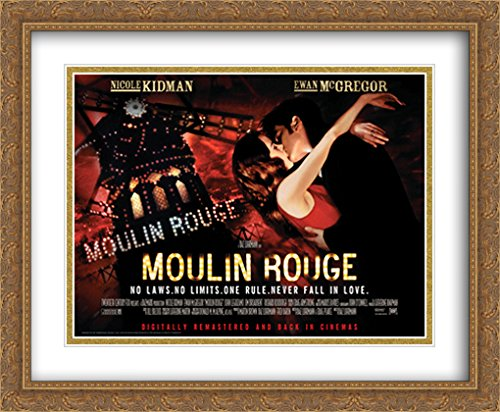 Moulin Rouge 34x28 Double Matted Large Gold Ornate Framed Movie Poster Art Print ()