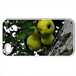 apple tree - Case Cover for iPhone 4 and 4s (Watercolor style, White) by icecream design