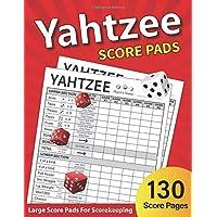 YAHTZEE SCORE PADS: 130 Score Sheets For Scorekeeping | Yahtzee Score Book
