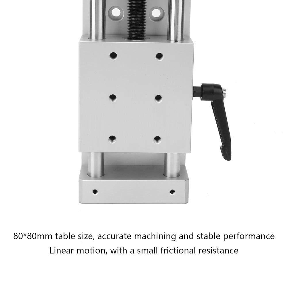 KA80-1402-50//100//150 Manual Linear Slide Table Equipment Manual Linear Guide Module Intersect Screw Slide Module 80 50mm 80mm