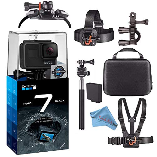 GoPro Hero7 Hero 7 Waterproof Digital Action Camera Base Bundle (Black)