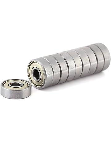 10pcs Mini rodamientos de bolas de metal blindado Durable Multi-Uso de acero al carbono