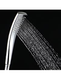esnbia high pressure handheld shower head water saving lightweight showerhead single function abs chrome finish - Showerheads