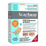 ScarAway Professional Grade Silicone Scar Treatment Sheets-8 Multi-Use Soft Fabric Backed Sheets, 1.5 X 3-Inch