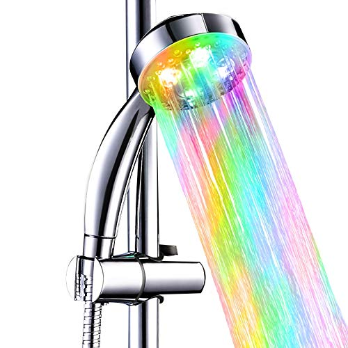 7 Color Changing Led Light Shower Head in US - 9
