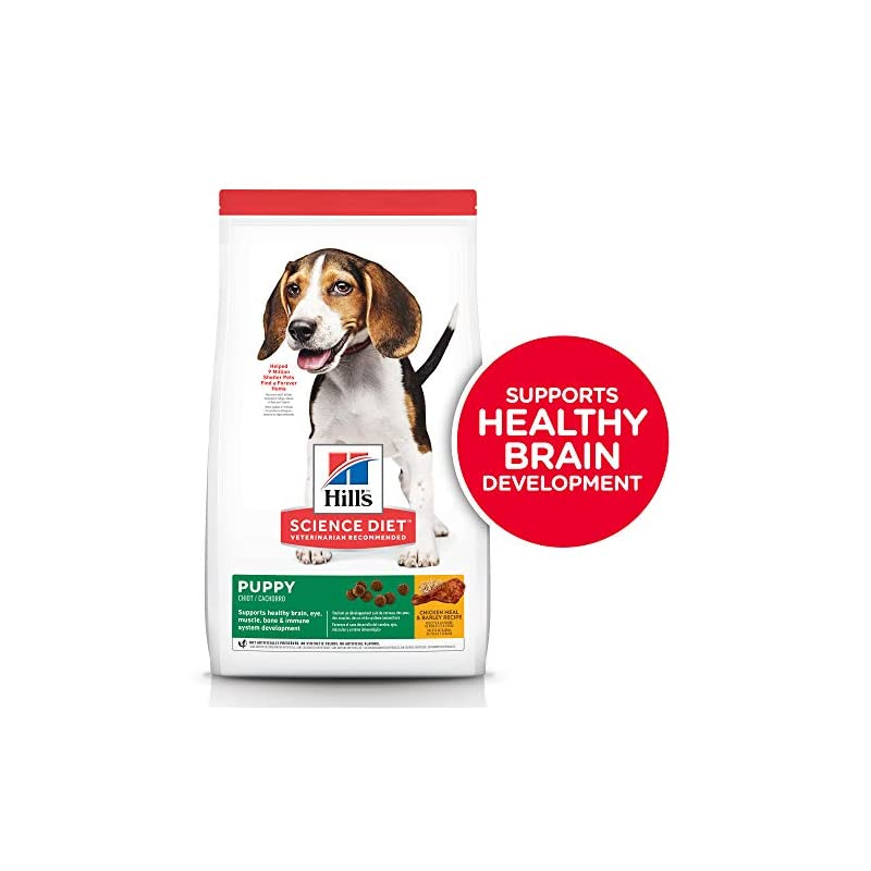 dog supplies online hill's science diet dry dog food, puppy, chicken meal & barley recipe, 30 lb bag