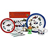 7 Piece Children's Melamine Gift Set - CONSTRUCTION by Martin Gulliver
