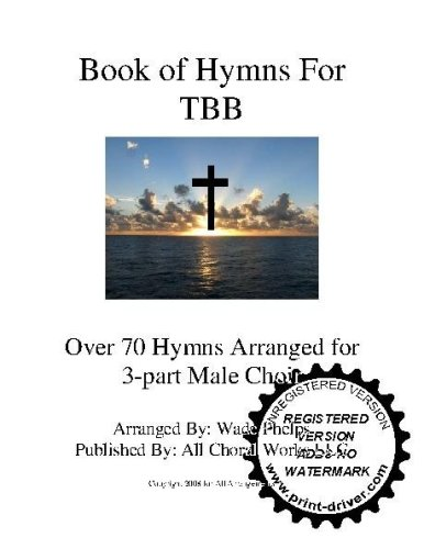 Over 70 Hymns of Praise A capella and Piano pieces  Choral Sheet Music! Acappella music arranged for 3 part male TBB choir or trio. Music is numbered and bound in a white 3 ring binder.