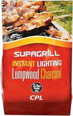3 x Bolsas – Supergrill 2 kg iluminación instantánea carbón vegetal para barbacoas