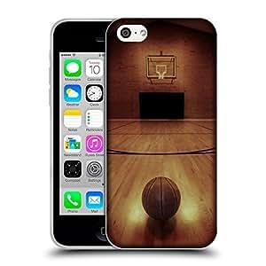 Super Galaxy Coque de Protection TPU Silicone Case pour // V00002567 Cancha de basketball // Apple iPhone 5C