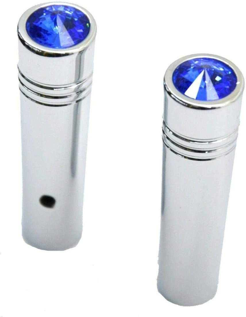 GG Grand General 92861 2-1//4 Inches Chrome Aluminum Toggle Switch Extension w//Blue Crystal for Kenworth