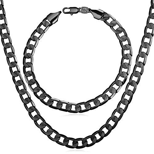U7 Fashion Platinum Necklace Bracelet