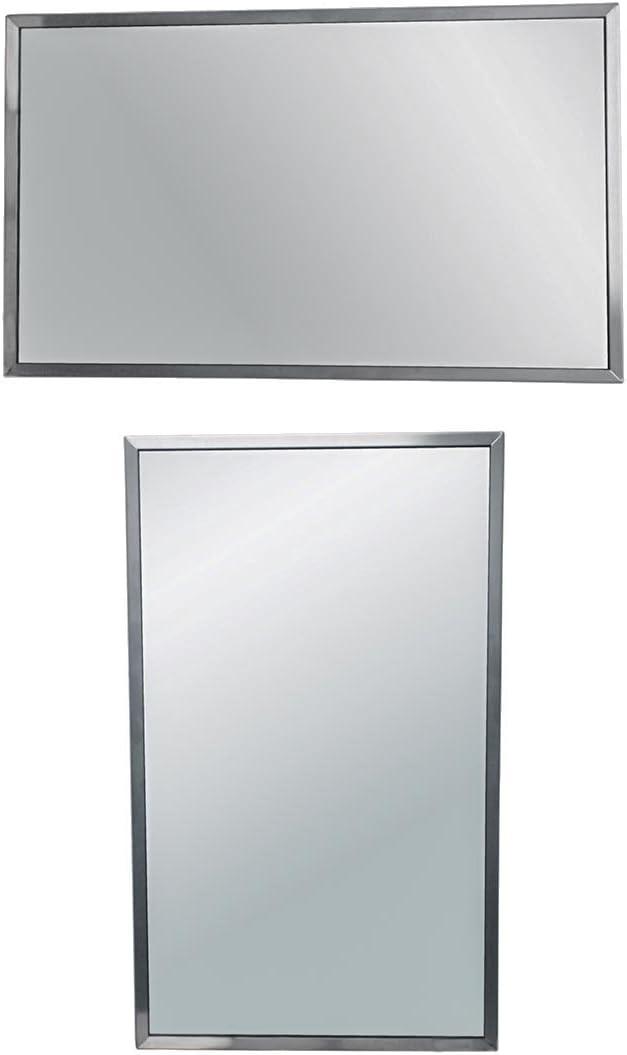 Brey-Krause Universal Horizontal or Vertical Mount Wall Mirror