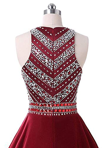 for Sparkly line Juniors Scoop Prom Lady Dress A Homecoming Beaded Pink Gowns CLZ21 Satin Short Dresses Blush Women's Crystals Party cB8zf