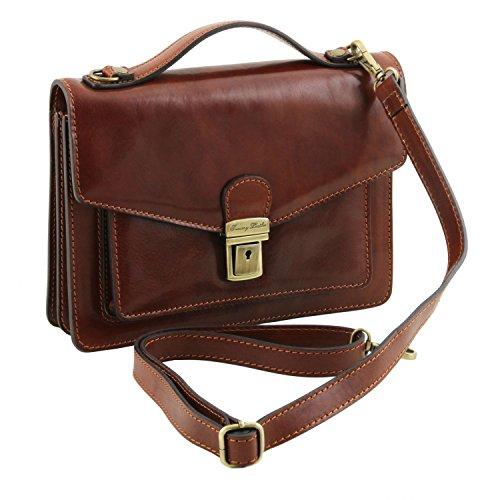 Tuscany Leather Eric - Elegante Herrentasche aus Kalbsleder - TL141443 (Honig) Honig