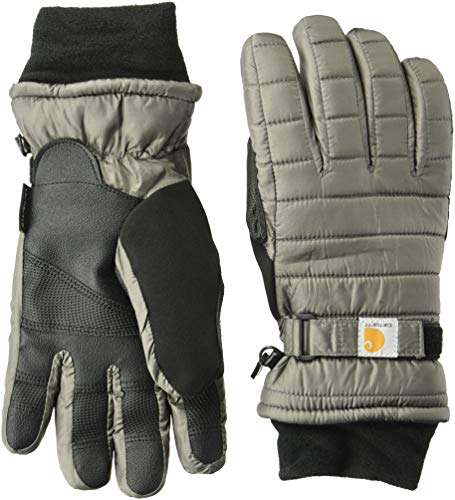 Carhartt Women's Quilts Insulated Glove with Waterproof Wicking Insert, charcoal, Large
