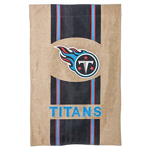 NFL Tennessee Titans Stripe Logo Burlap House Flag, Medium, (Tennessee Titans House Banner)