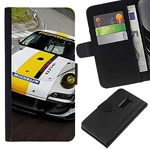 Stuss Case / Funda Carcasa PU de Cuero - 911 Racer - LG G2 D800