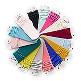 VWU Random 6 Pack Little Girls Boys Silk Stockings Solid Color Velvet Pile Socks Over The Calf Socks Colorful 1-10Y
