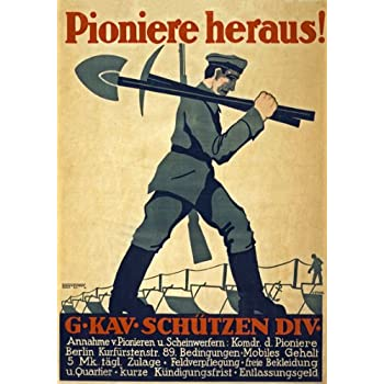 2W5 Vintage WWI German Join The Reichswehr Recruitment War Poster WW1 A1 A2 A3