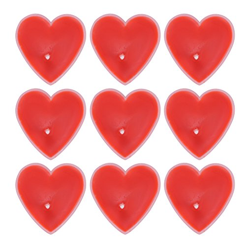 9 PCs Heart Shaped Candles Smokeless Tealight Scented Candles Sweet Romantic Floating Love Candle Bulk for Wedding Birthday Party Celebrations Birthday Party Halloween Christmas Home Decorations