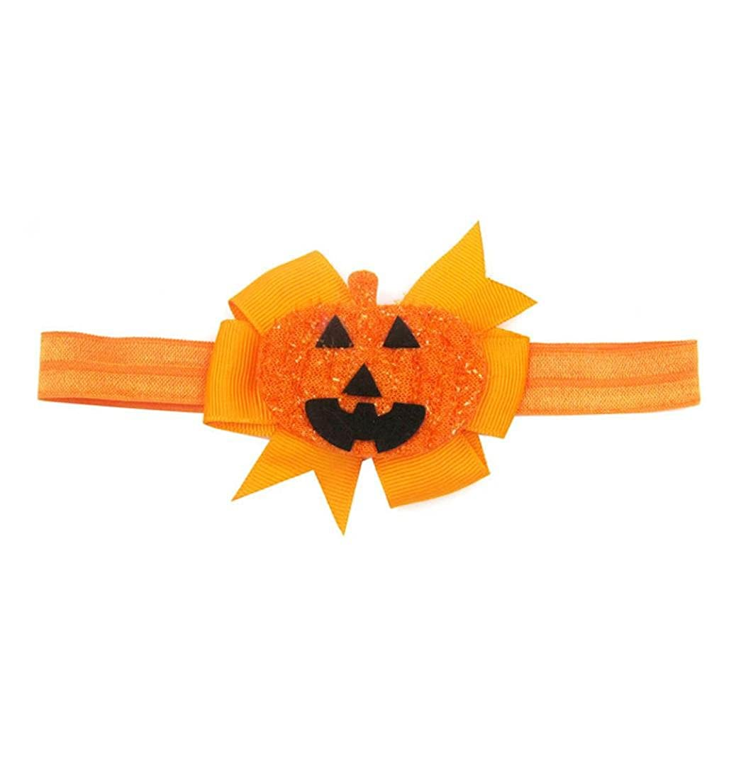 SHOBDW 1PC Baby Kids Halloween Fashion Pumpkin Hairpin Toddler Headdress Headband Girls Headbands