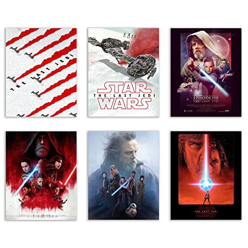 Star Wars Last Jedi Poster Prints - Ultimate pack of Six 8x10 Episode VIII Photos - Featuring Rey Kylo Ren Luke R2D2 BB8 ChewBacca
