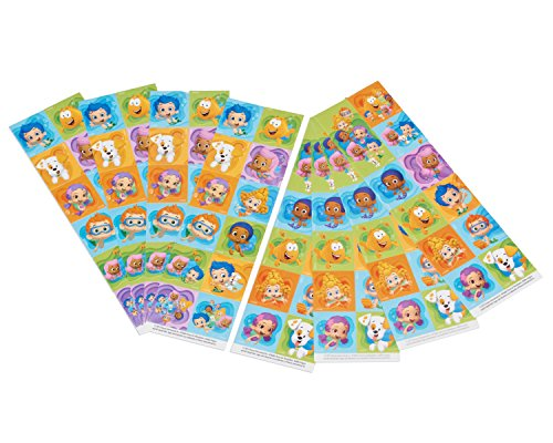 Bubble Guppies Sticker Sheets, 8 Count, Party Supplies -