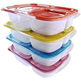 Kids Lunch Box Reusable Bento Container Food Prep For Adults On The Go Set of 4 by Kascade