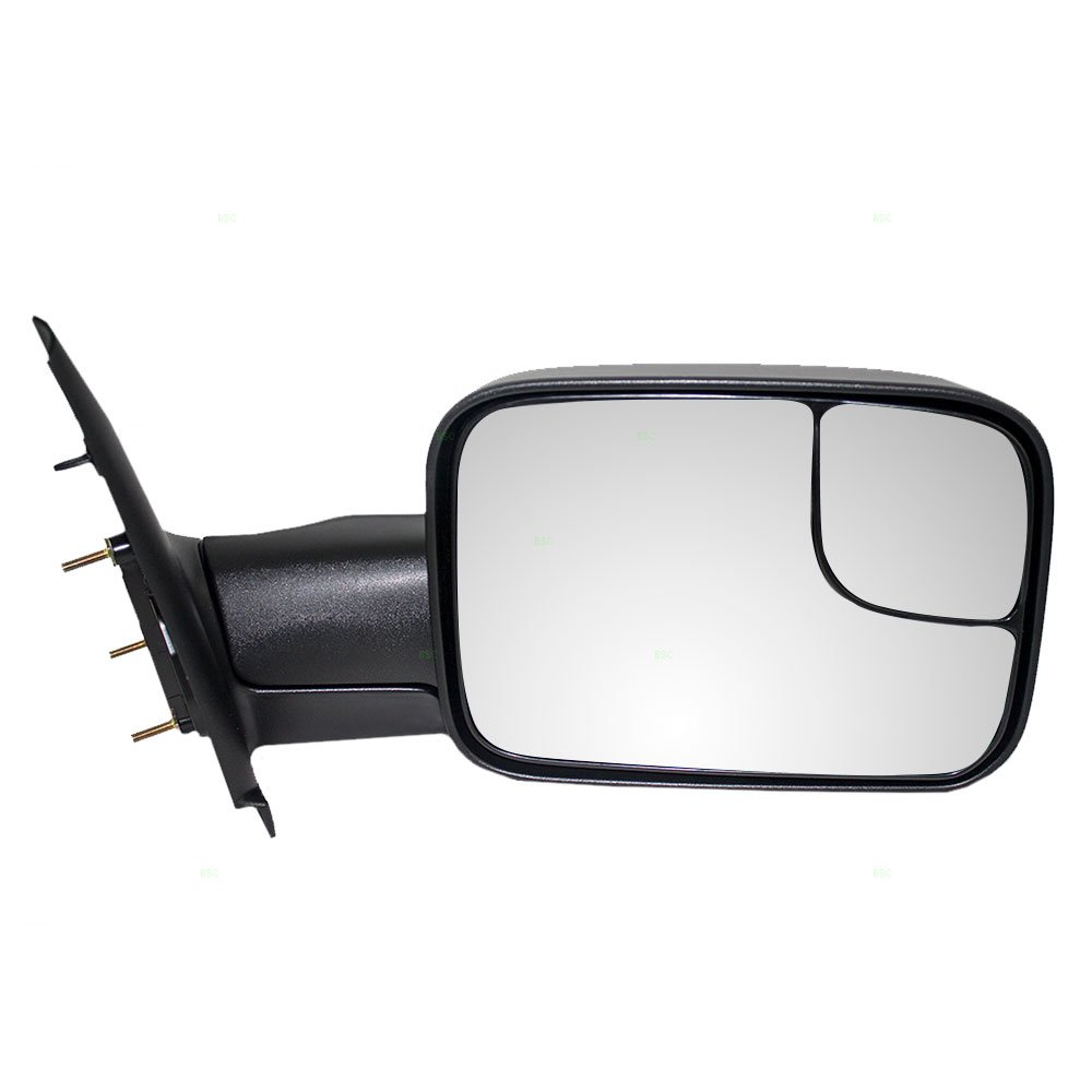 Passengers Manual Side Tow Mirror 7x10 Flip-Up Textured Replacement for Dodge Pickup Truck 55077492AN Auto Parts Avenue