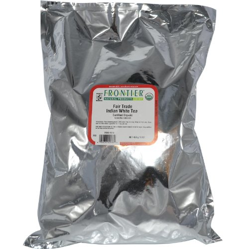 Frontier Bulk White Tea Indian ORGANIC Fair Trade Certified 1 lb. package 2936