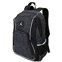Nike Jordan Jumpman23 Backpack (One Size Fits All, Black/White)
