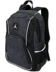 Nike Jordan Jumpman23 Backpack (One Size Fits All, Black/White)