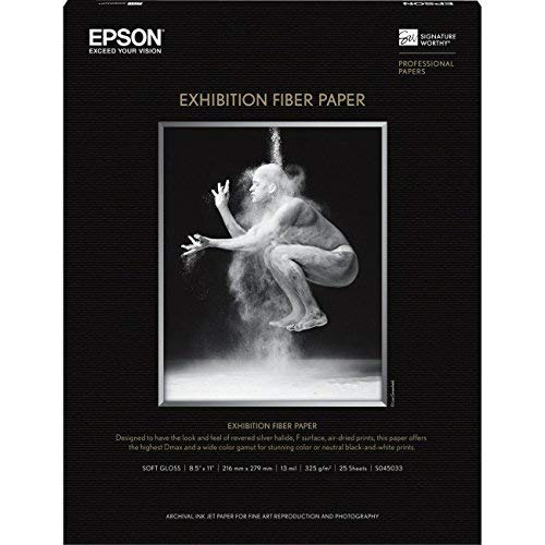 Epsona-Epson Exhibition Fiber Paper, 8.5x11 - 2 Pack