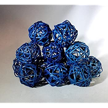 Amazon Com 2 Packages Decorative Spheres Of 6 Blue