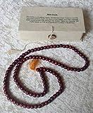 GeoFossils - Rosario budista en caja de regalo (madera de palisandro)