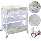 White PP+Steel Baby Changing Tables With Ebook
