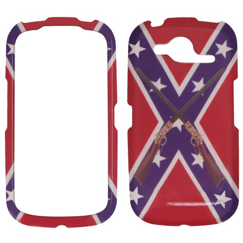 Pantech Burst P9070 - Rebel Flag / CONFEDRATE FLAG with Rifels Plastic Case, SnapOn, Protector, Cover