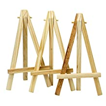 """TRIXES Mini 6"""" Tall Wooden Easels Artistic Projects Photo Name Menu Holder Table Reservations Festive Xmas Placeholder"""