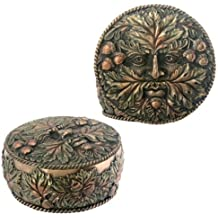 Greenman Box Fall Collectible forest Green Man Jewelry Container