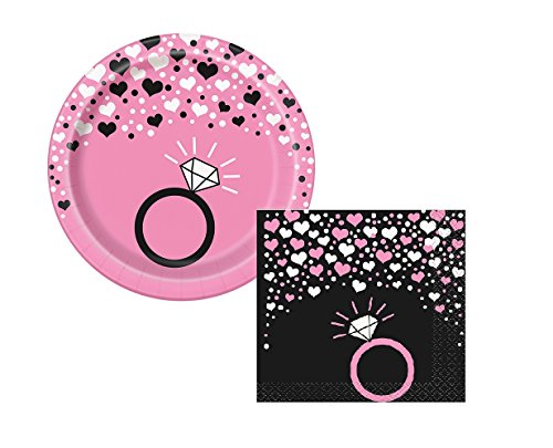 Bachelorette Party Small Dessert Plates And Napkins Set For 8 (Bachelorette Plates)