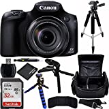 Canon PowerShot SX60 HS Digital Camera Bundle with Carrying Case and Accessory Kit (9 Items)