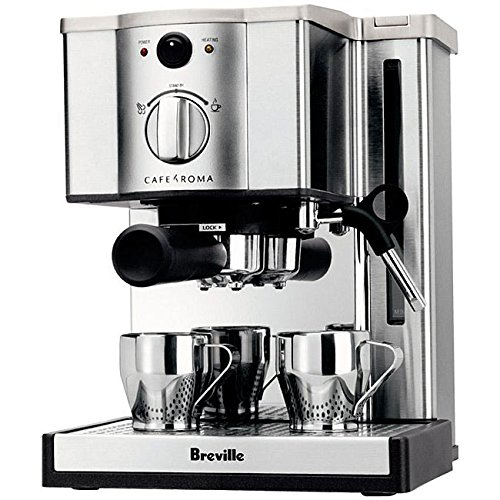 Cappuccino Espresso Coffee Machine Maker Combo With Frother- The Cafe Dream Machine Made of Stainless Steel Two Cups With Warmer Tray Removable Drip Tray Thermo-Block Heating System- The Very Best