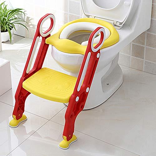 Greensen Toiletbril voor kinderen, met trap, toiletopzet, toilettrainer voor kinderen, toiletbril, opvouwbaar, potten…