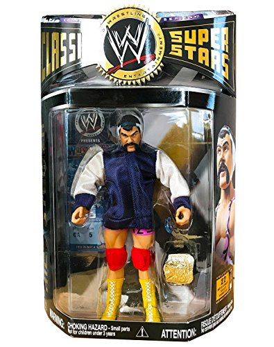 Jakks WWE WWF Classic Superstars Series 11 Rick Steiner Brothers Wrestling Action Figure with Tag Team Championship Belt