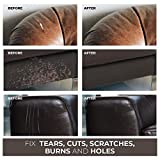Leather Repair Kits for Couches Dark Brown, Leather Repair Kit for Couch Leather Refurbishing - Leather Restorer Vinyl Repair Kit - Leather Scratch Repair for Couch, Boat Seats - Leather Dye Brown