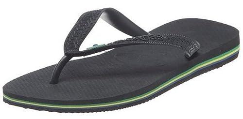 7f1f78fc59978d Havaianas Brasil Negro Hombres Mujeres Unisex Beach Summer Flip Flops   Amazon.es  Zapatos y complementos