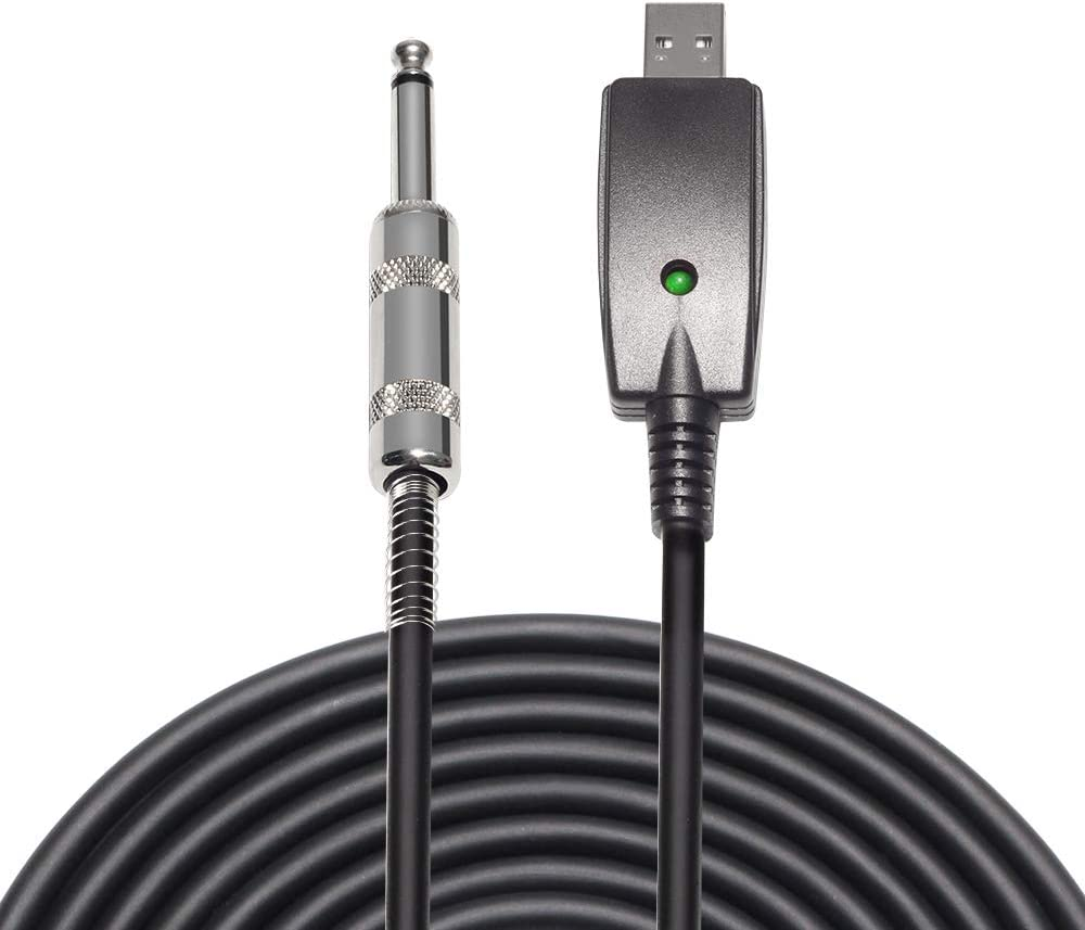 USB Guitar Cable - ATNY Guitar USB Interface - Compatible with Windows and MacOS